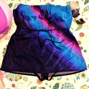 Vintage NWT JANTZEN Swimsuit Modest Top Size 18